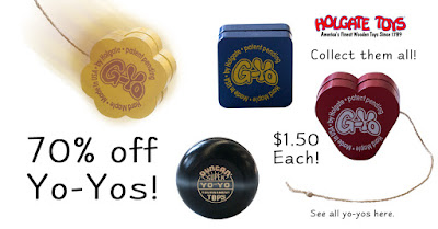 Holgate Toys wooden Yo-Yos only $1.50 each!