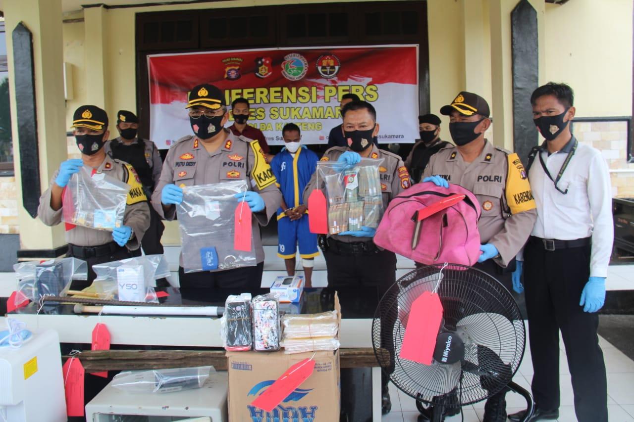 Polres Sukamara Release Kasus Curat, Rugikan Korbannya Sekitar 700 Juta