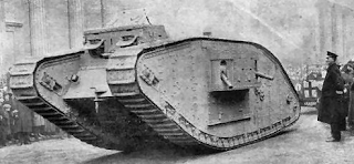 First World War tanks were bulky, slow, loud machines that scared men in the trenches.