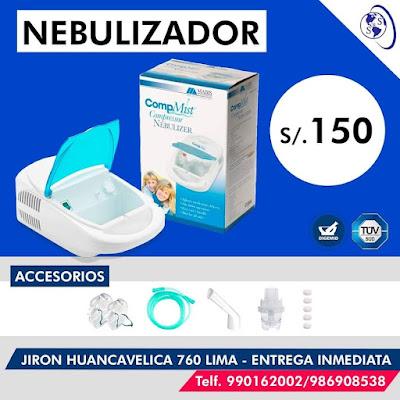 anuncio nebulizador portatil electrico compmist caja accesorios precio direccion teléfono