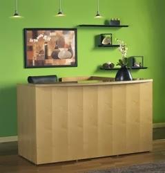 Luminary Wood Reception Desk by Mayline