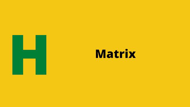 HackerRank Matrix Interview preparation kit solution