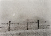 Pencil drawing of a foggy day in sketch book