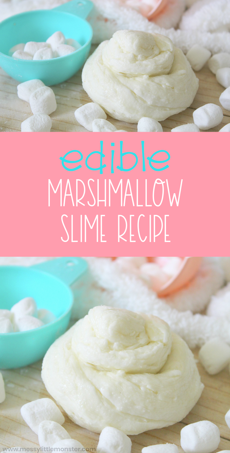 Marshmallow slime. An easy edible slime recipe for kids.