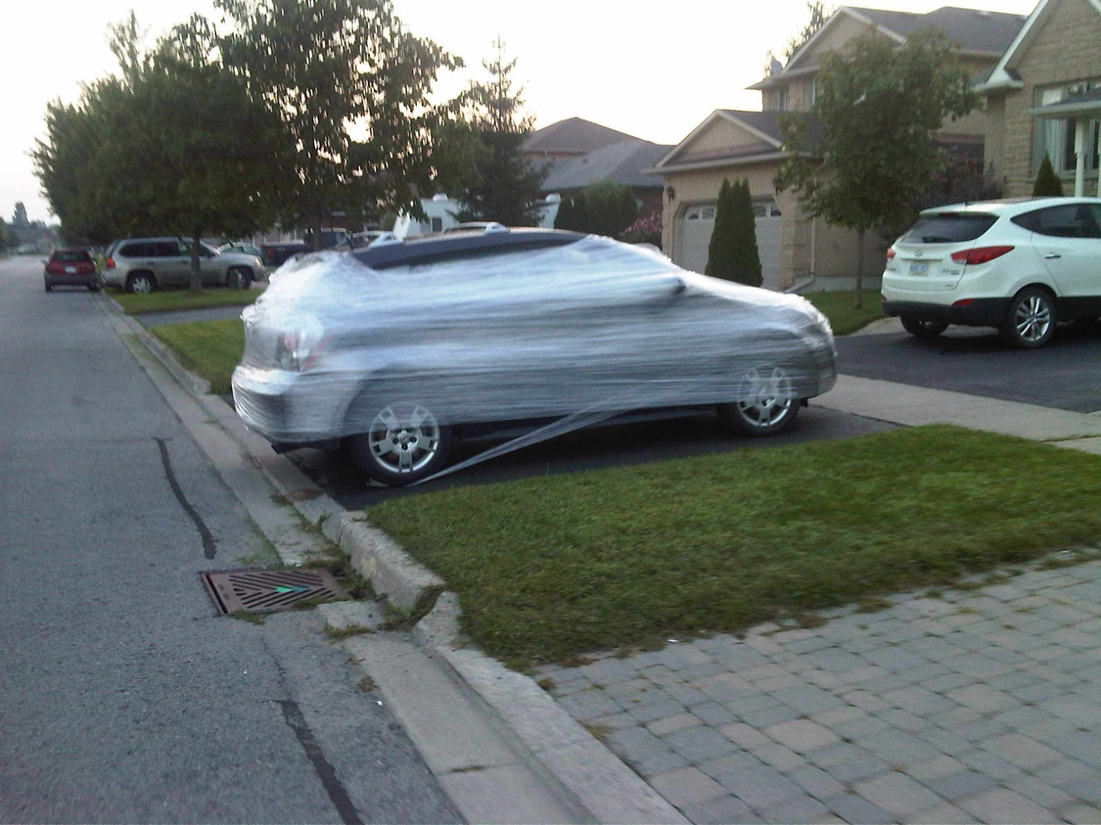 Saran Wrap Car: You. Me. Ride This Crazy Train