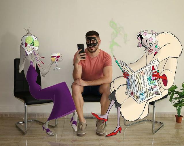 محترف فوتوشوب يضع شخصيات ديزني في صوره بطريقه احترافية
