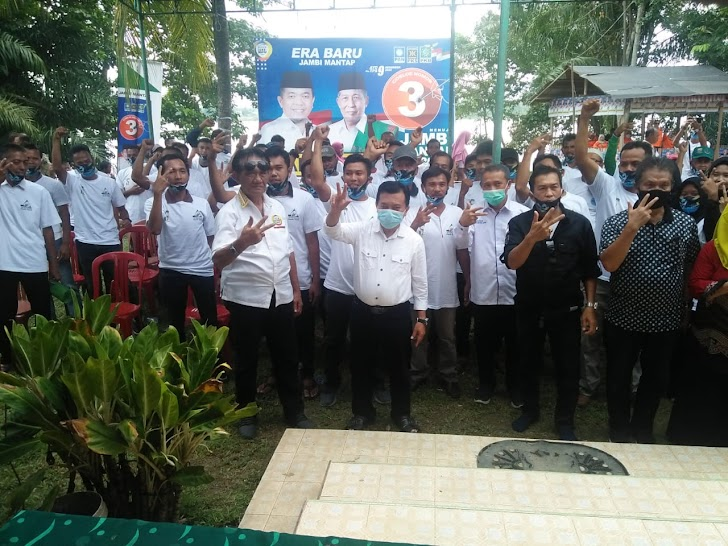 Diklaim Dukung Kandidat Lain, Warga Jaluko Tergabung Pro 3 Tegaskan Dukung Haris-Sani