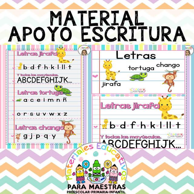 material-apoyo-escritura-aprender-escribir