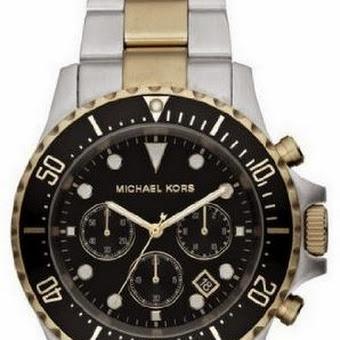 202eb890eefe Michael Kors Men s MK8311 Silver Tone Black Stainless Steel Watch