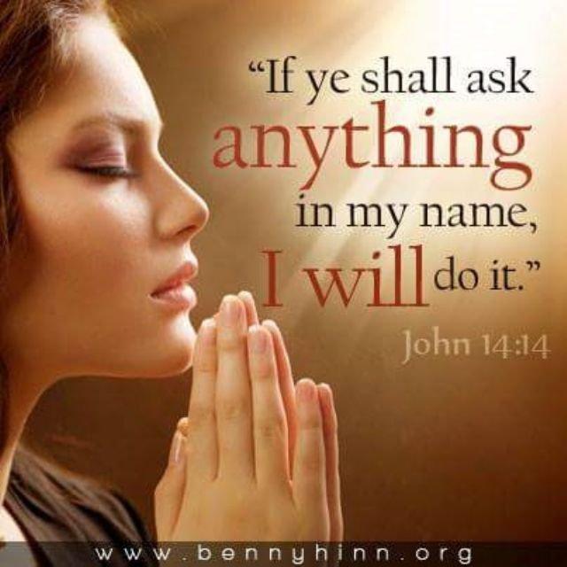 Pray, believe and receive Jesus