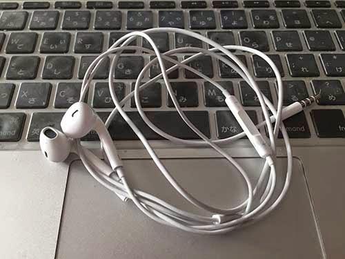 アップル純正のイヤホン