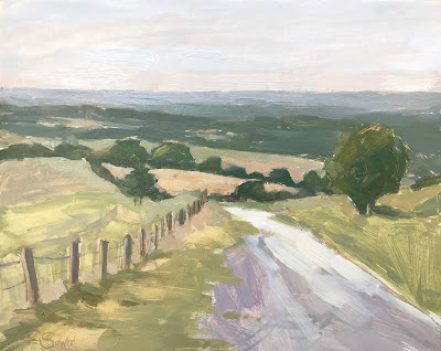 #221 'Chalk Path, The Trundle' 8×10″