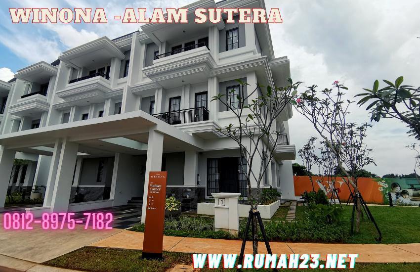Sutera Winona Type Wallace Corner At Alam Sutera Tangerang