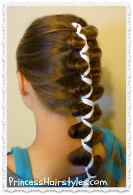 Ribbon French Braid Hairstyle