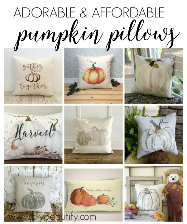 affordable pumpkin pillows