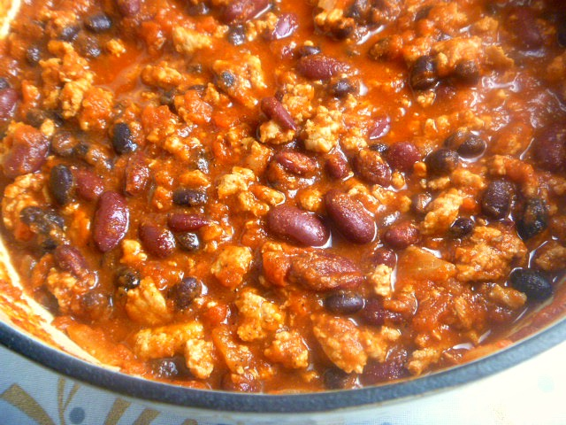 Everyone needs a basic chili recipe and this one that features ground turkey, beans, and a blend of spices will knock your socks off! - Slice of Southern
