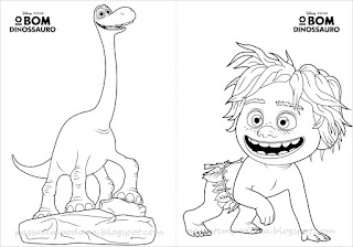 The Good Dinosaur: Free Printable Coloring Book.