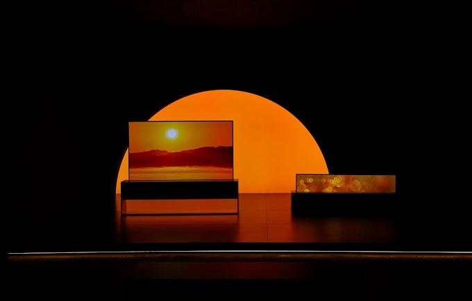 TV OLED enrollable de LG se destaca en semana del diseño de Milán