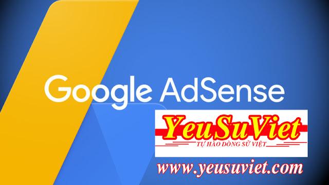 google adsense, lịch sử việt nam, yêu sử việt, đăng ký google adsense