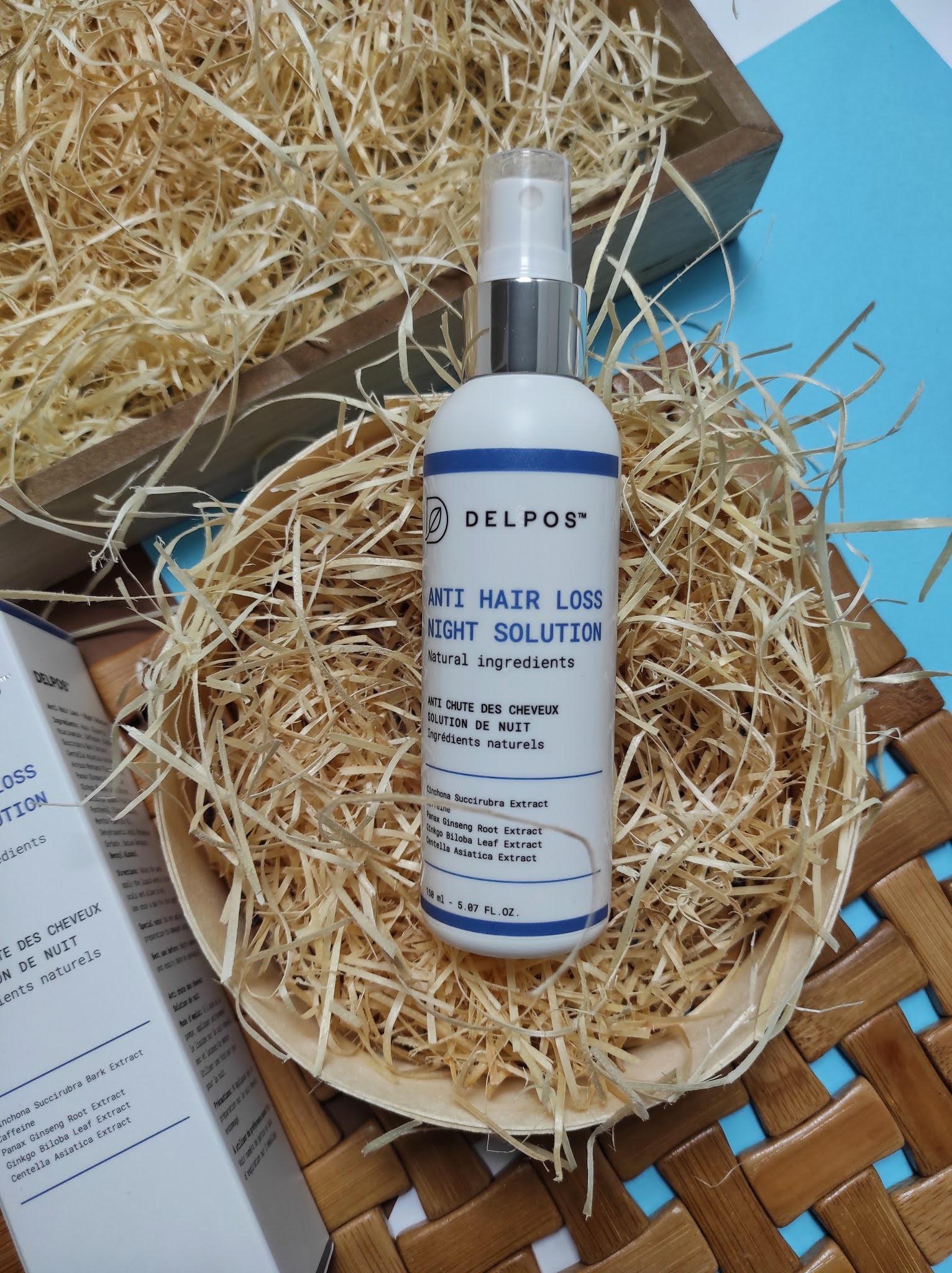 Delpos Anti hair loss night solution - płyn przeciw  wypadaniu włosów na noc 150 ml.