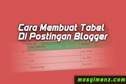 Cara Membuat Tabel Responsive Di Postingan Blogger