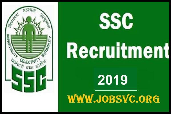 SSC Recruitment (2019) - 1,350 Vaccancies of Selection Post