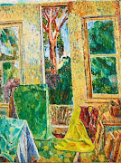 "October inspiration is by Grace Cossington Smith with ""The Window 1956""."
