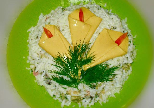 Закуски и салаты КАЛЛЫ — варианты рецептов и идеи оформления. http://prazdnichnymir.ru/