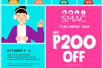 Celebrate Teachers' Day at #TheSMStoreRosales and get P200 OFF