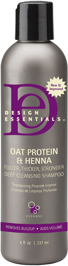 Click here to buy, Design Essentials Oat Protein Henna Deep Cleansing Shampoo, my new fave clarifying shampoo