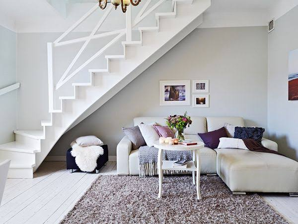 Small Living Room Under Stairs Home Design Ideas