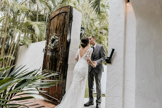 Bride and Groom kissing after First Look The Manor on St Lucie Crescent Wedding captured by Stuart Wedding Photographer Heather Houghton Photography