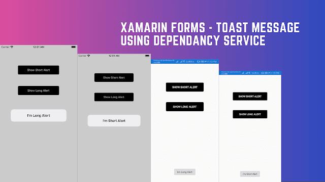 Toast in Xamarin Forms