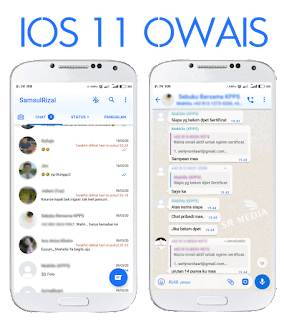 Tema WhatsApp ios iPhone