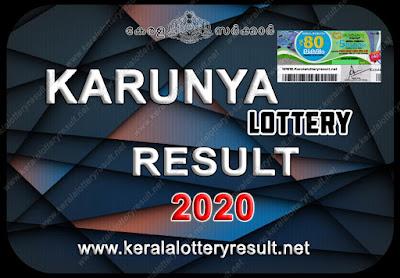 KARUNYA LOTTERY RESULTS 2020