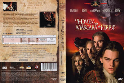 Filme O Homem da Máscara de Ferro (The Man in The Iron Mask) DVD Capa