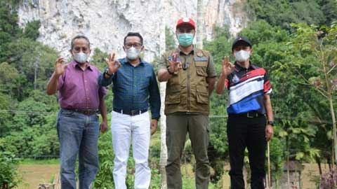 Bupati Tanah Datar Kunjungi Geopark Silokek Sijunjung