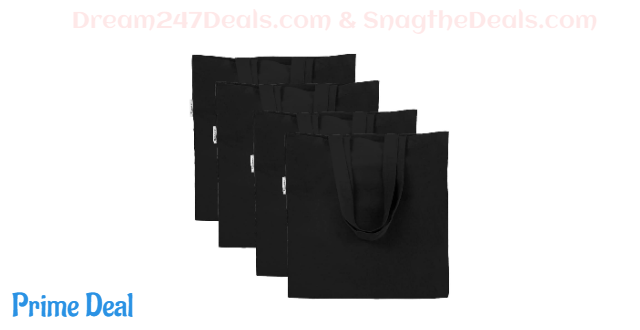 50% OFF  Canvas Tote Bag for Crafting --4 Packs
