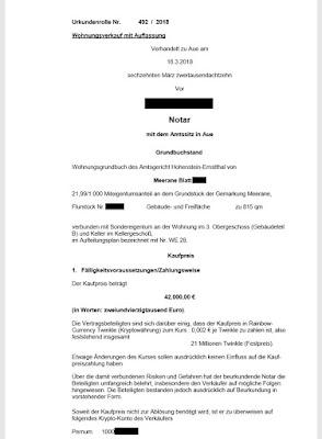 Kutipan Dari Kontrak Antara Rainbow Currency Dan Apartemen Di Chemnitz Jerman