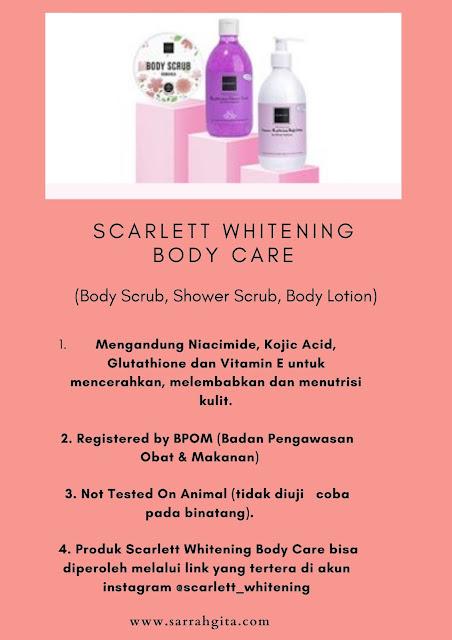 manfaat scarlett whitening body care