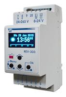 Zegar programowalny z funkcją astronomiczną REV-303. Wyłącznik zmierzchowy. Czujnik zmierzchowy.