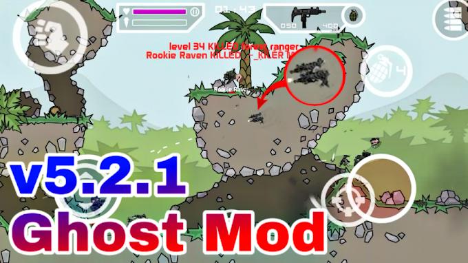 Mini Militia v5.2.1 Ghost Mod (Invisible + Wall Hack + Vibrating Leg) | Mini Militia Mod Apk