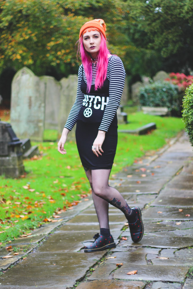 Alternative Style Blogger Foxxtailz in Boohoo