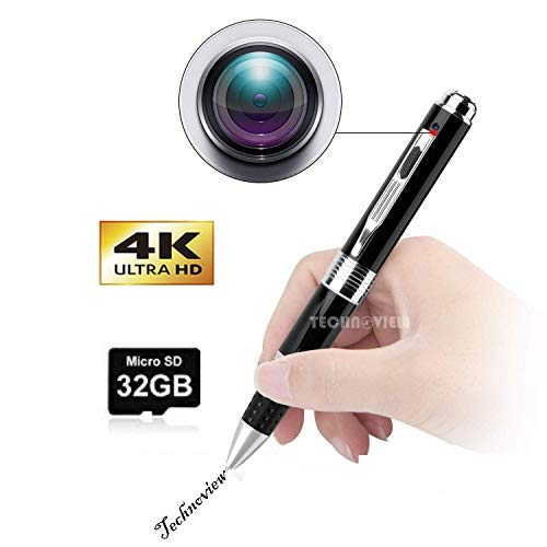 Technoview Spy Camera Silver 1080P Full HD Spy Pen cam