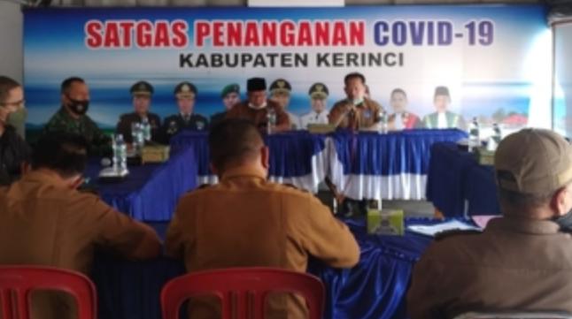 Hasil Rapat Tim Penanganan Covid 19, Ami Taher : Pemkab Kerinci Kembali Perpanjang Izin Keramaian