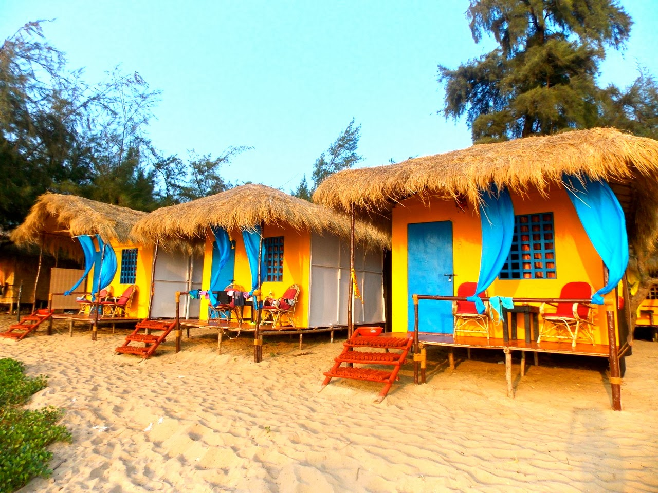 Goa Beach Huts Jpg