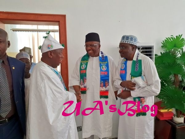 PHOTOS: Niger Republic governors in Kano for Buhari rally