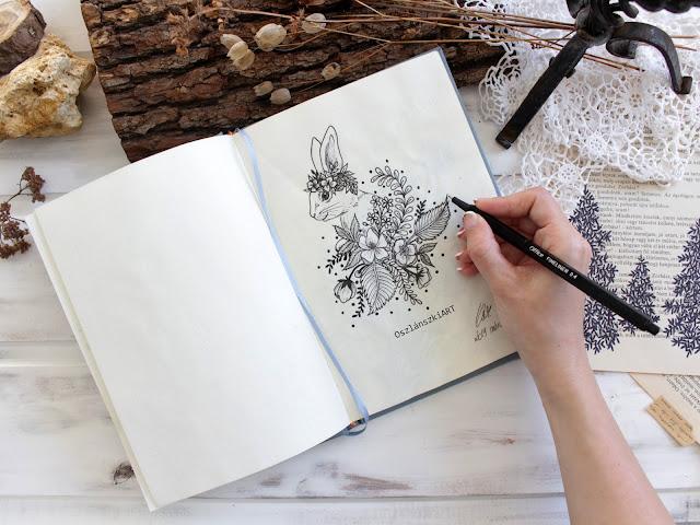Vadvirágok és nyuszi - OszlánszkiART