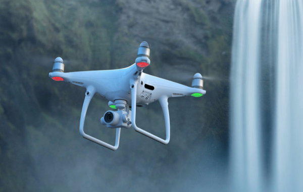 Камера дрона DJI Phantom 4 Pro V2.0 в полете
