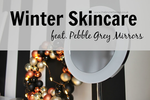 winter, skincare, beauty, LED mirror, bathroom mirror, Pebble Grey